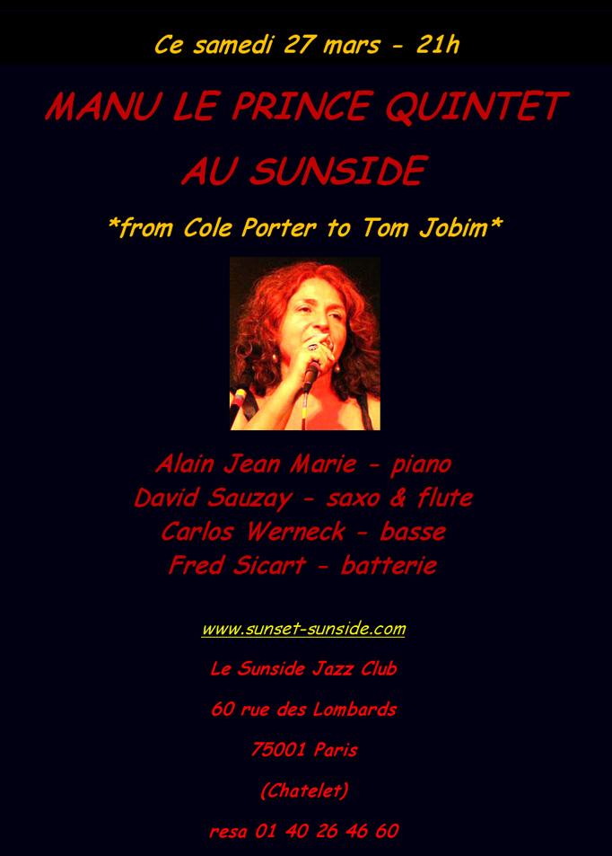 Concert de Manu Le Prince au Sunside le 27 Mars 2010